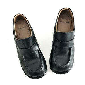 Vintage Dr Martens 7 Black Chunky Loafers 8462